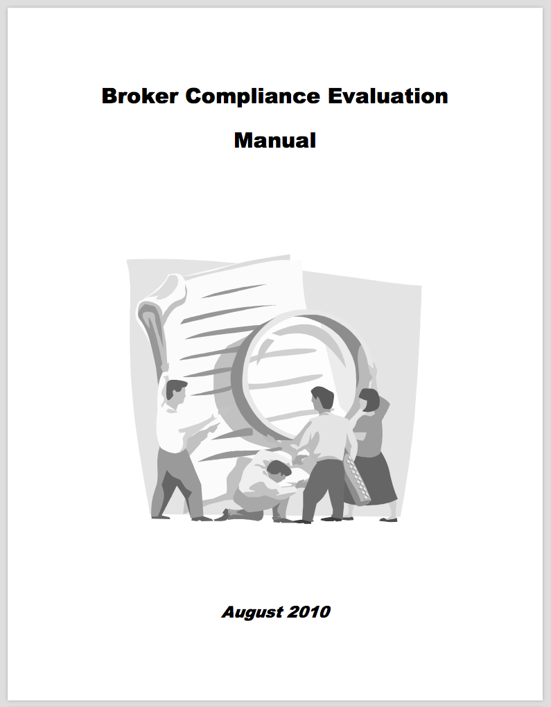 California DRE broker compliance evaluation manual August 2010