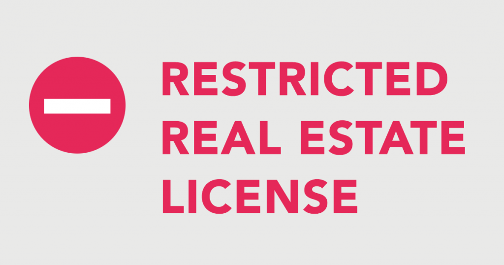 restricted california real estate license